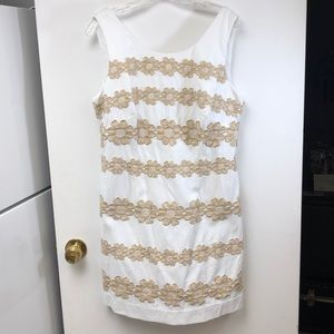 Lilly Pultizer white pique shift dress